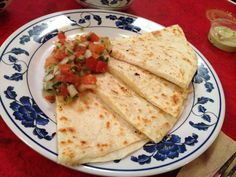 TNT Taqueria - Seattle, WA, United States. cheese quesadilla with pico