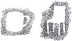 positive and negative space. duel drawing idea....
