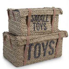 Ruim het speelgoed op met deze handige manden van Childhome