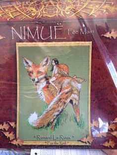Renard Le Roux Fox & Fairy Nimue Fee Main Cross Stitch Pattern Nymph #nimuefeeMain #picture The Fox from Nimue of France