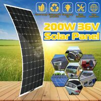 180w Pet Flexible Solar Panel Mc4 Output Monocrystalline Roof Boat Car Charger Ebay Solar Panels Solar Power Solar Panel System