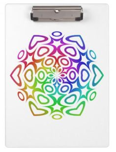 Rainbow ornament clipboard $34.20