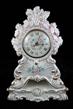 "Vintage Dresden Meissen Style Floral Electric Mantle Clock 12"" Tall  #vintage #dresden #mantle #clock"