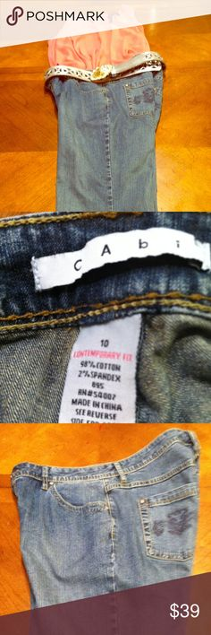 CAbi Blue Jeans - Like New CAbi Blue Jeans- Like New - Size 10.  98% Cotton 2% Spandex. Inseam 30. Make an Offer or Bundle Discount CAbi Jeans