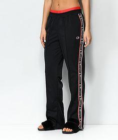 207006b65353 Champion Black   Red Taping Track Pants