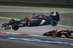 Esteban Gutierrez and Pastor Maldonado, Bahrain Grand Prix
