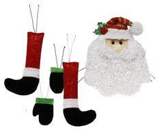 """Santa Decor Kit 5pc Santa Face Arms and Legs Christmas Decor 20"""" height"""