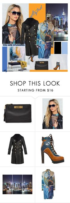"""My style  (Moshino)"" by lovemeforthelife-myriam-mimi ❤ liked on Polyvore featuring Moschino, Nasty Gal, Balmain and Dsquared2"