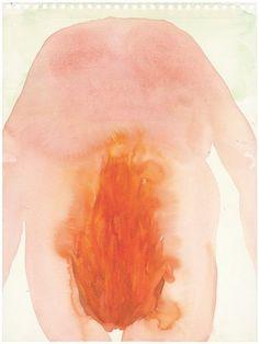 Maria Roosen/Vuur / Fire. 2008/watercolour/32 x 24cm/VIA