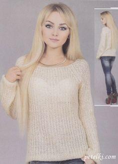Пуловер реглан английской резинкой Размер: 42-44