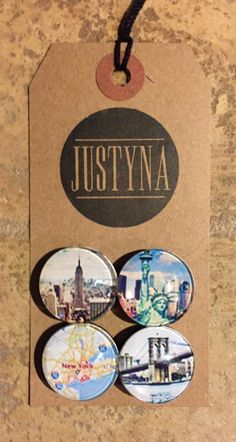 NYC Inspired Glass Magnets by justynainteriors on Etsy