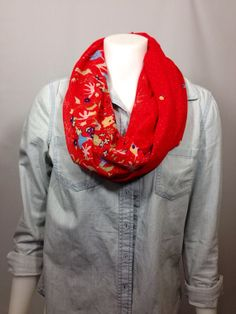 Spring Fashion Infinity Scarf-Red Scarf