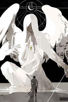 Raziel and Jonathan Shadowhunters. Art by Cassandra Jean. Cassandra Jean, Fantasy Kunst, The Mortal Instruments, Pretty Art, Character Design Inspiration, Shadow Hunters, Aesthetic Art, Dark Art, Art Inspo