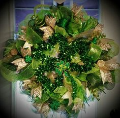 """Shamrockin"" wreath... By ChristineVCreations on Etsy"