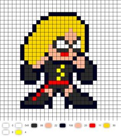 Ms. Marvel Perler Bead Pattern