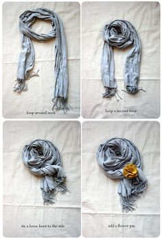 You've Made the Scarf, Now How to Tie it, including this scarf style from Jones Design Company