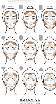 Make-up tips Contouring give your face that certain something Haus Dekora . - Make-up tips Contouring give your face that certain something house decoration More Face Makeup con - Slimmer Face, Plus Size Makeup, Makeup Charts, Pinterest Makeup, Makeup Guide, Makeup Ideas, Makeup Tutorials, Beauty Tutorials, Makeup Tips And Tricks