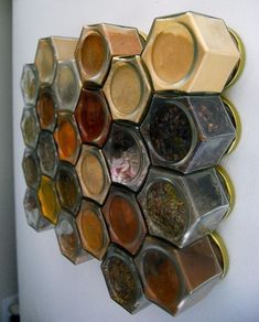 Magnetic spice rack = perfect! might need to label though