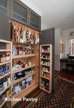 New Kitchen Pantry Ideas - Kitchen Pantry Cabinets Kitchen Cupboard Organization, Kitchen Pantry Design, Kitchen Pantry Cabinets, Design Your Kitchen, Home Decor Kitchen, New Kitchen, Kitchen Storage, Kitchen Ideas, Awesome Kitchen