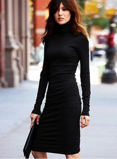 fitted black dress
