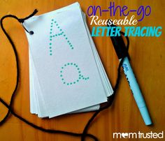 On-the-go Reusable Letter Tracing - Preschool Activity