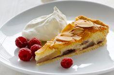 hindbær-pæretærte