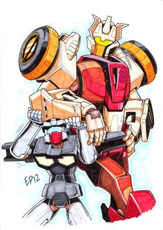TF:MTMTE - Chromedome and Rewind - for Sprite by Kingoji.deviantart.com on @deviantART