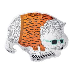 New THORINE Cushion Hedgehog Playful Decorative Resilient Polyester Filling