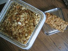 These homemade granola bars are perfect snacks for kids on the go.  Take them to sports practice, or enjoy this healthy treat while doing homework.