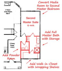 Master Bathroom Addition master suite addition plans | rear rendering image of new master