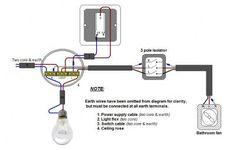 Bathroom fan wiring.