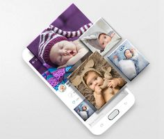 The free First Smile app for iOS and Android: Safe, private photo sharing and organization, too