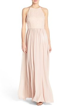 Vera Wang Sequin Chiffon Fit & Flare Gown available at #Nordstrom.        Love thisssss!!!