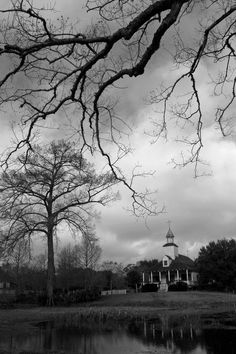 An old church somewhere in Southern Louisiana. Beautiful pic.