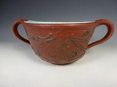 KARMA KUP Handmade soup bowl Wheel thrown by SharonMirandaPottery