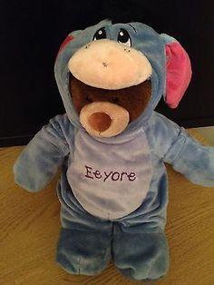 Build A Bear Workshop Bear with Disney Eeyore Outfit