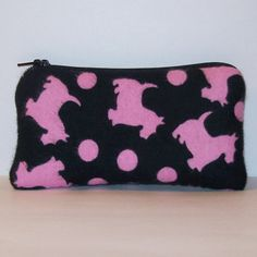 PouchAPalooza.com - Padded Pipe Pouch Scottie Dottie Bag Glass Pipe Case Pipe