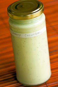 Creamy Cucumber Salad Dressing recipe via Sandra Angelozzi Cucumber Salad Dressing, Creamy Cucumber Salad, Creamy Cucumbers, Cucumber Recipes, Salad Dressing Recipes, Salad Dressings, Salad Recipes, Sauces, Dips