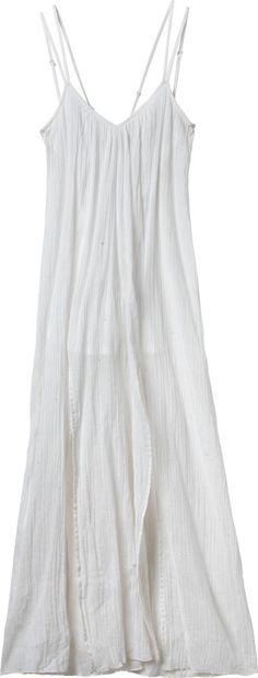 simple white beach dress