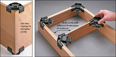 Right-Angle Assembly Clamps - Woodworking
