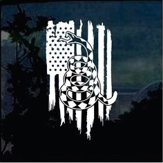 Don't Tread on Me Gadsden Weathered Flag Military Window Decal Stickers – Custom Sticker Shop Window Decals, Vinyl Decals, Wilderness Tattoo, Kayak Stickers, Hunting Tattoos, Patriotic Tattoos, Gadsden Flag, Dont Tread On Me, Stencil Diy