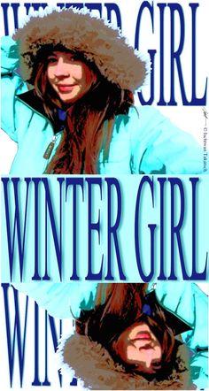 """Ischtwan © 2015; """"Winter Girl"""" DigitalArt"""