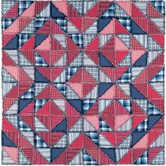 """Called a zig zag rag quilt.  Even though it is definitely """"busy,"""" it is only like four patterns.  I like that."""