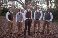 Country wedding style for groom and groomsmen - Eva Bradley Photography