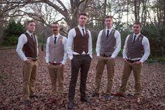 Country wedding style for groom and groomsmen - Eva Bradley Photography
