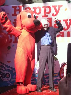 Norman Bridwell and Clifford the Big Red Dog. Happy 50th Anniversary Clifford!