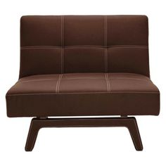 Contemporary Armless Chair - Coffee Brown – Target - I love it, Ray says looks like a futon