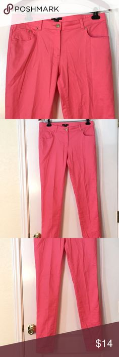 "H&M Bubble Gum Pink Skinny Jeans H&M Bubble Gum Pink Skinny Jeans ~ Size 12 ~ Waist is approximately 16"" ~ Inseam is approximately 32"" ~ 98% Cotton & 2% Spandex H&M Jeans Skinny"
