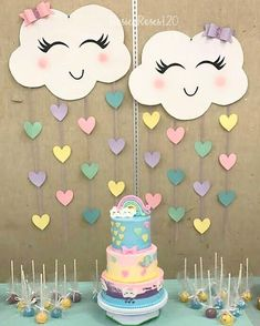 baby shower decorations 859272803890346181 - Ideas For Baby Shower Decoracion Arcoiris Source by dijanaro Rainbow Birthday Party, Unicorn Birthday Parties, Diy Birthday, Cloud Party, Rainbow Decorations, Birthday Party Decorations, Baby Shower Themes, Baby Shower Decorations, Baby Dekor