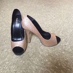 Gold Glitter Pumps Pretty glitter pumps by Michael Antonio! Size 7. Worn a few times, but in great condition :) Shoes Heels